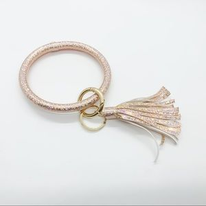 Rose Gold Keyring Bracelet Bangle